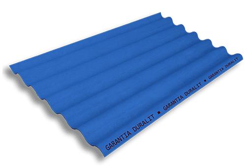 Teja Ondulada de Fibrocemento P7 Color Azul