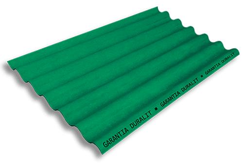 Teja Ondulada de Fibrocemento P7 Color Verde